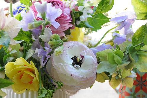 Seasonal, locally grown flower bouquet