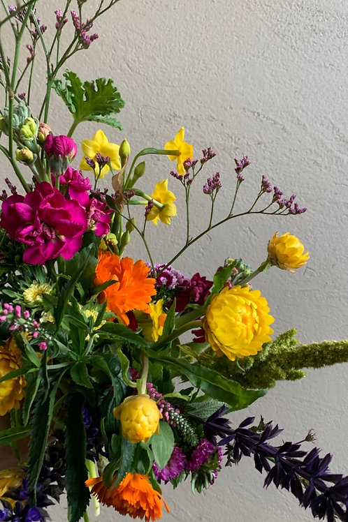 Seasonal, locally grown posy