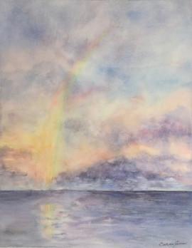 Rainbow at Sunrise Hawaii