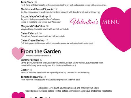 Valentine's Weekend Menu at Shugrue's!