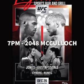 UFC 232  -  DEC 29 7pm