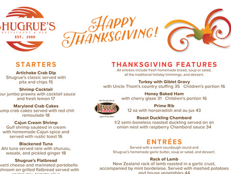 Thanksgiving at Shugrue's