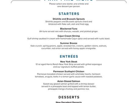 Shugrue's PRIX-FIXE Menu for Havasu Restaurant Week! Sept 18th-27th