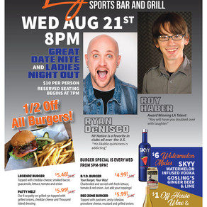 Comedy Night and Half Off All Burgers!!