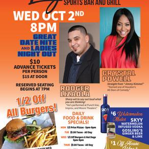 Oct 2nd Comedy Nite at Legendz!