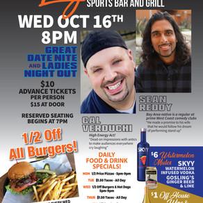 Oct 16th Comedy Nite at Legendz!
