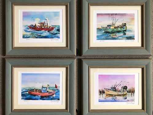 The Hope Series, a set of 4 mini watercolors