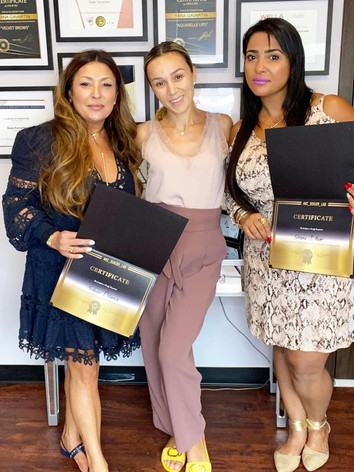 Microblading course completion