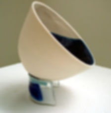 11 slip cast bowl and glass stand.jpg