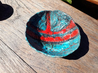 red and turquoise glazed dish.jpg
