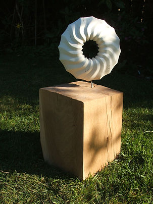 4 Commisioned Porcelain and oak sculptur