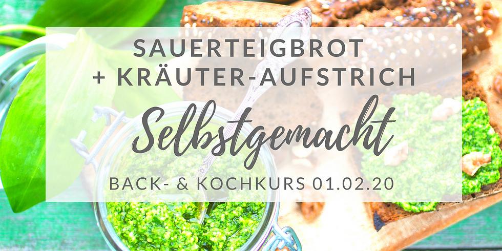 Sauerteigbrot-Backkurs + Kräuteraufstrich  (Febr.2020)