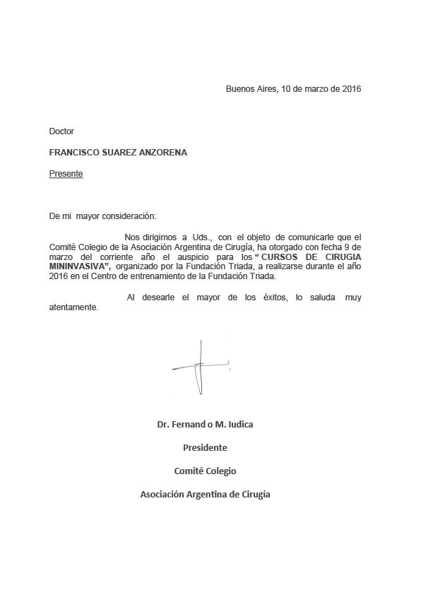 Auspicio Asociación Argentina de Cirugía