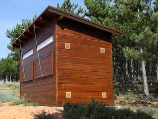 Observatorio ornitológico en el muladar de Berlanga de Duero (Soria)