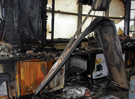 Fire that started from 'a routine post-experiment wash-up' closes building for a year