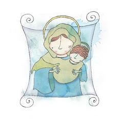 Ilustración Virgen