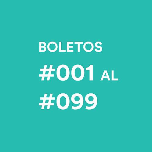 #001 al #099