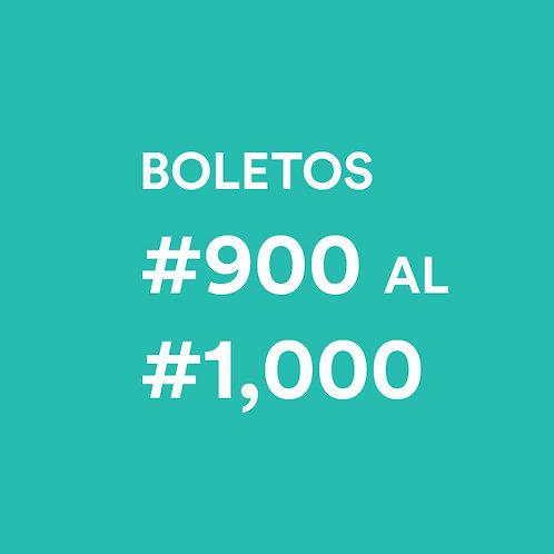 #900 al #1000