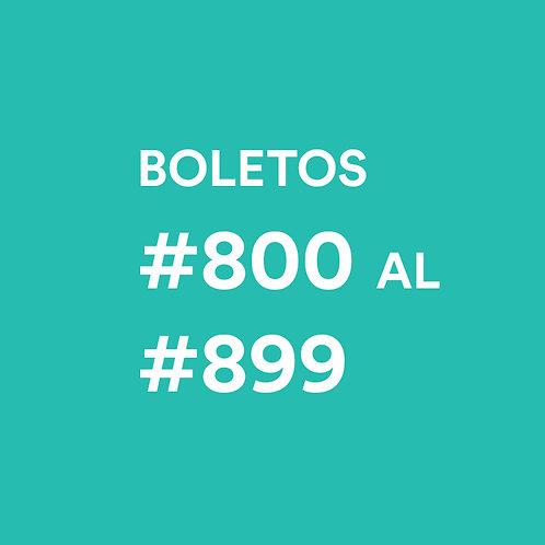 #800 al #899