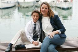 Javier con su madre