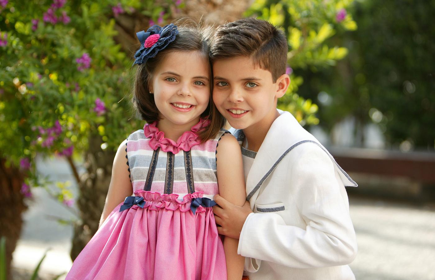 Rubén y su hermanita Carmen