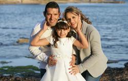 Carla con sus padres Carlos y Elena