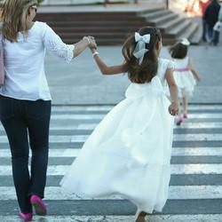 María con su madre y hermana