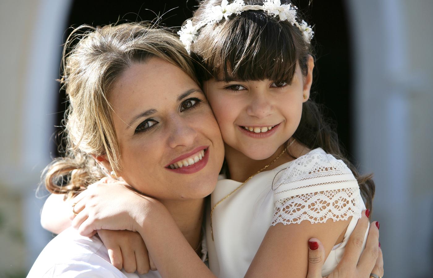 Carla con su madre