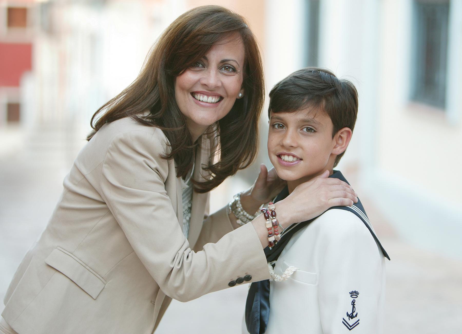 Alejandro con su madre
