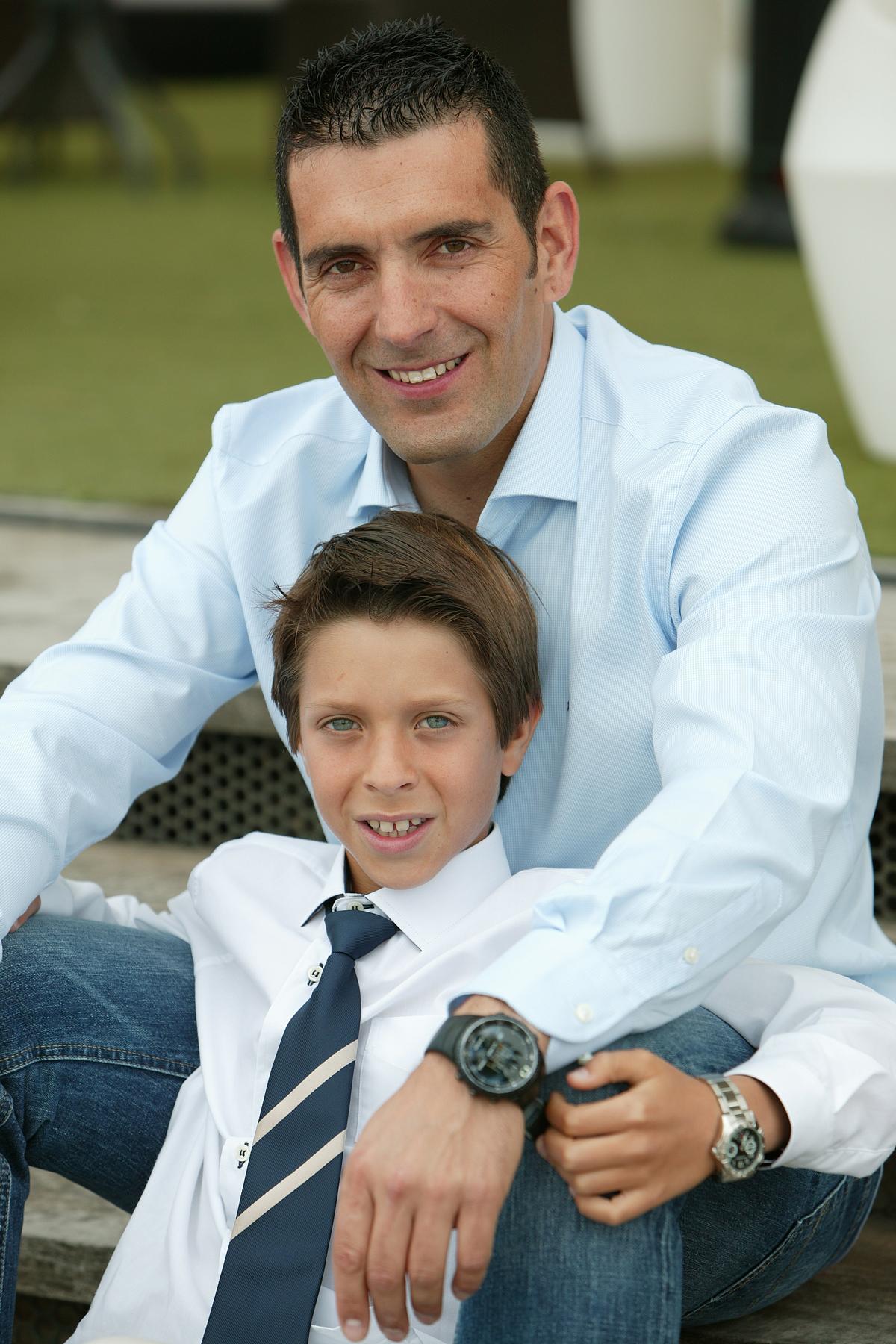 Javier con su padre