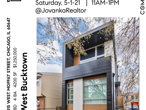 West Bucktown Single Family Home Open House 5-1-21 11AM-1PM