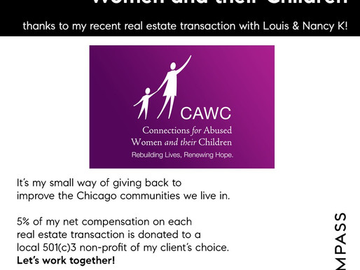 Real estate home sale generates donation for CAWC