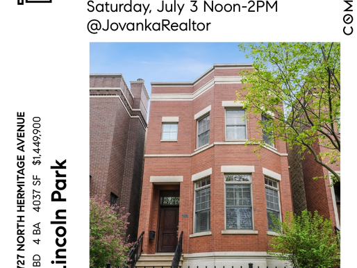 Open House 2727 N Hermitage in Lincoln Park Chicago