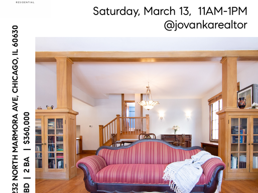 Don't Miss This Open House in Jefferson Park Saturday 3/13/21 11AM-1PM at 5232 N Marmora Chicago IL