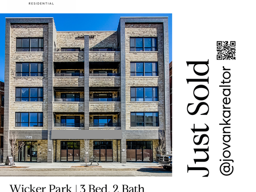 Just Sold this New Construction Condo in Wicker Park