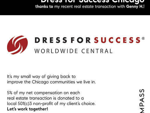 Thank you Genny! Chicago Real Estate Agent Donates to Local Charities on Behalf of Clients
