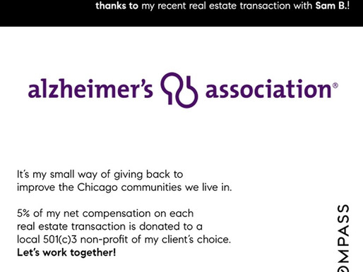 Donation to Alzheimer's Association