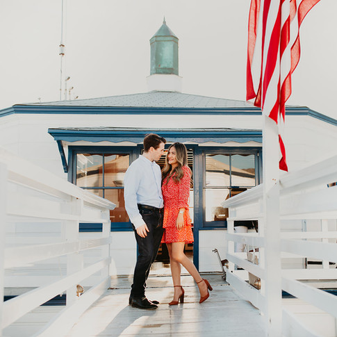 Engagement photo session in  Malibu