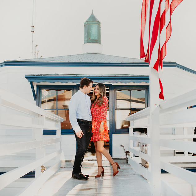 Engagement photo session in  Malibu