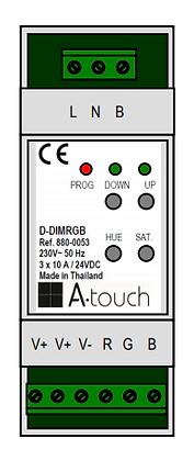Contrôleur strip LED RGB sur rail DIN