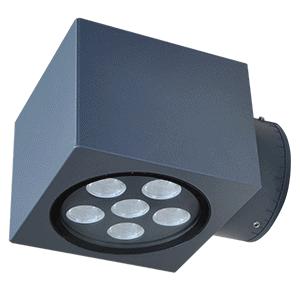 ALTER-APPLIQUE MURALE LED EXTERIEURE -6W 2800K-GRIS- NON DIMMABLE - IP65/IK08
