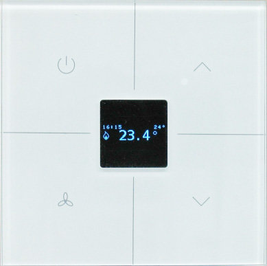 Clavier tactile en verre blanc - Thermostat