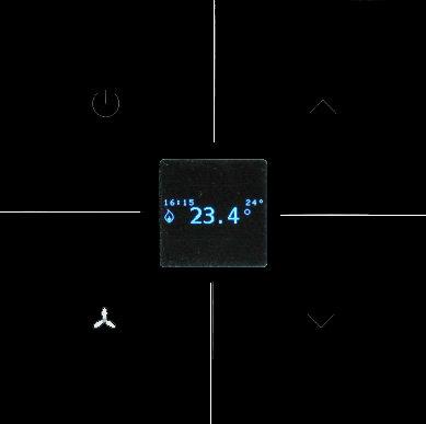 Clavier tactile en verre noir - Thermostat