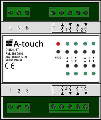 Commande 4 volets 8A rail DIN