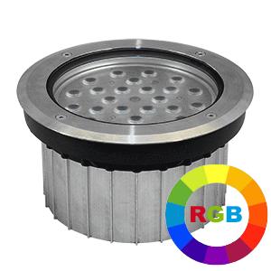 FARO - ENCASTRE DE SOL LED EXTERIEURE -24W RGB-ALU- NON DIMMABLE - IP67/IK09