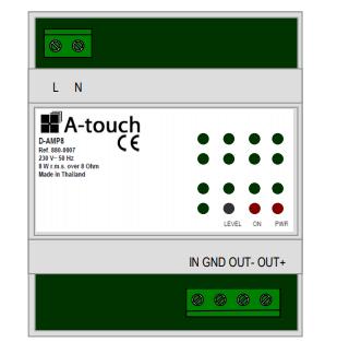 Amplificateur mono 8W rail DIN