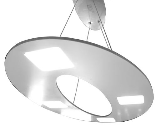 PAÏPO - SUSPENSION LED BLANCHE 4X5W - 3000K - 800x450x1200