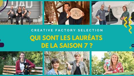 👏 Bravo aux lauréats de la Creative Factory sélection - saison 7.