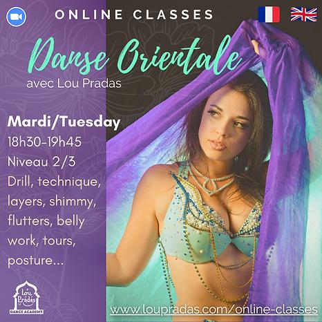 cours de danse orientale online en ligne