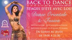 Stages de danse orientale Belgique